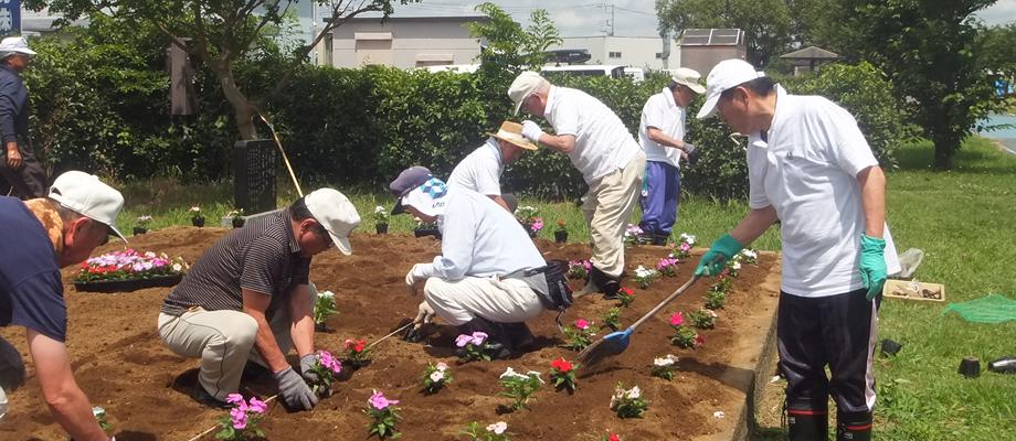 土浦市虫掛花壇整備